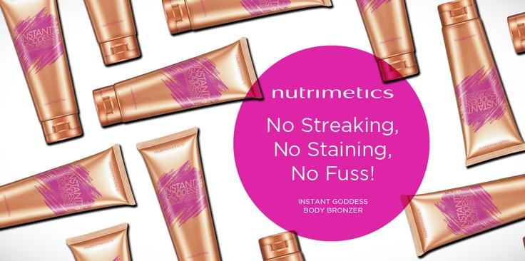 Nutrimetics Instant Body Bronzer.....keeping you tanned and silky smooth!  https://www.nutrimetics.com.au/kelinewlove OR email gandknewlove@optusnet.com.au