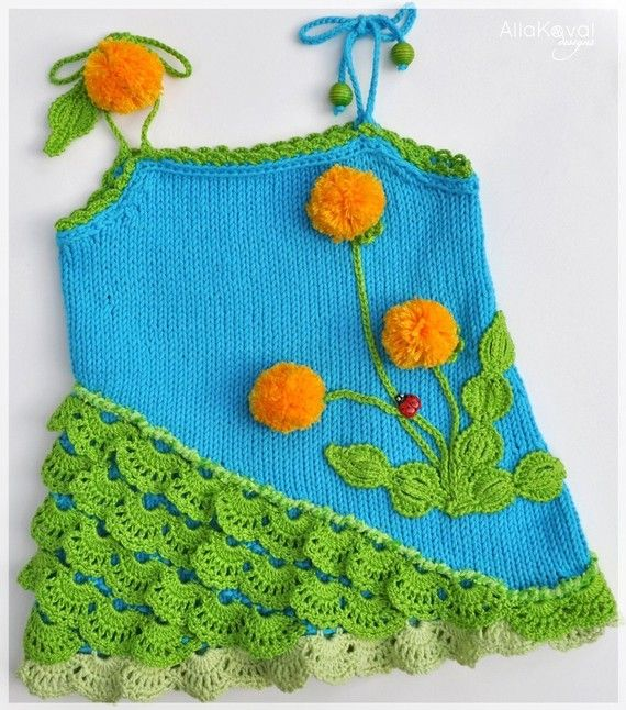 knit and crochet dandelion tunic - pattern $9.95