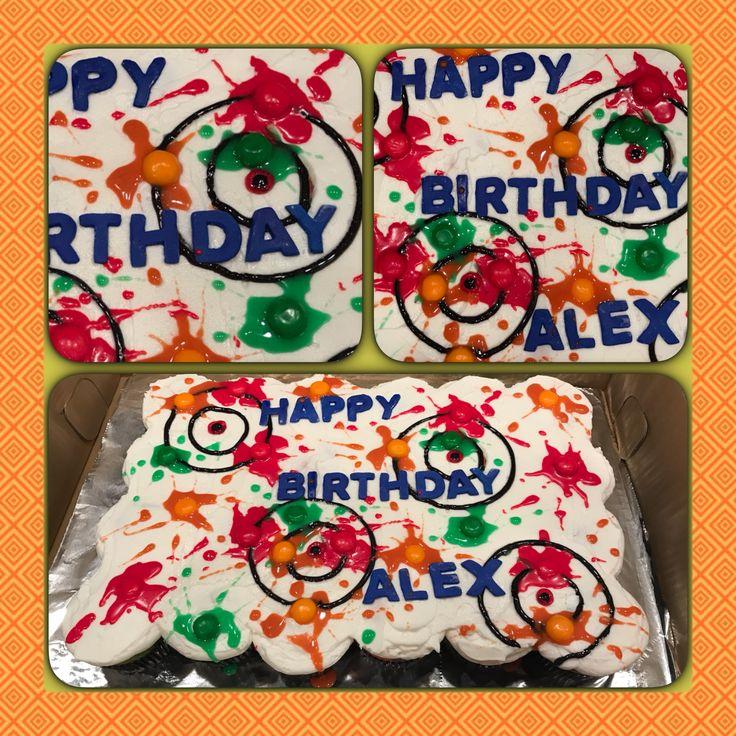 Cupcake Cake Paintball Party Nov. 2016