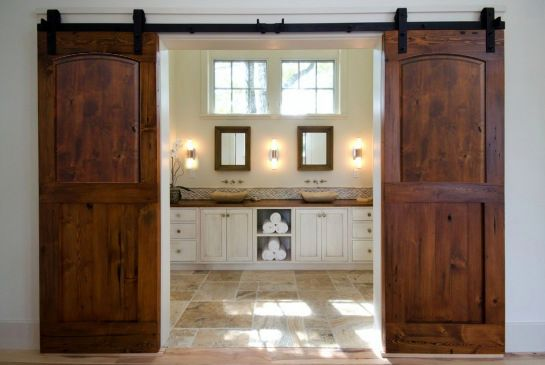 Sliding Barn Doors from Knotted Pine Rustic Doors