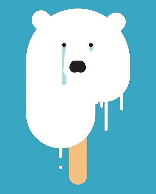 Ice Bear / Limited edition poster for Blink Art / Pleix
