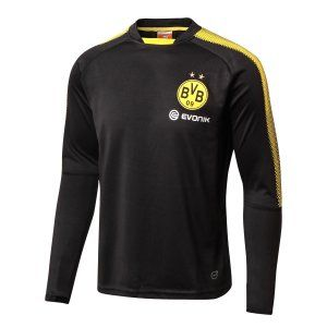 Dortmund 2017-18 Black Football Sweater Top [L548]