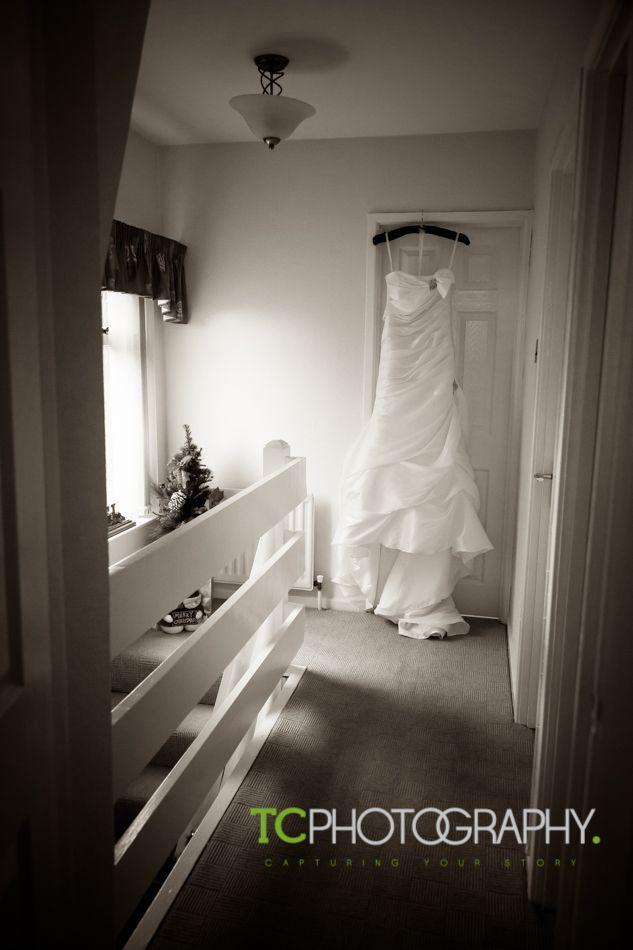 our bides dress ready & waiting