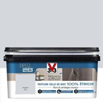 Peinture Décolab 100% étanche V33, Gris manganèse, 2 l | Leroy Merlin