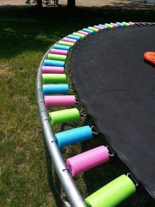 Cover your trampoline springs with pool noodles