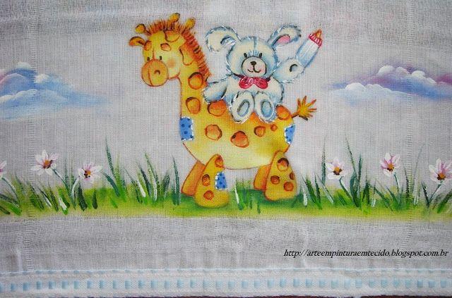 pintura em tecido fralda bebe