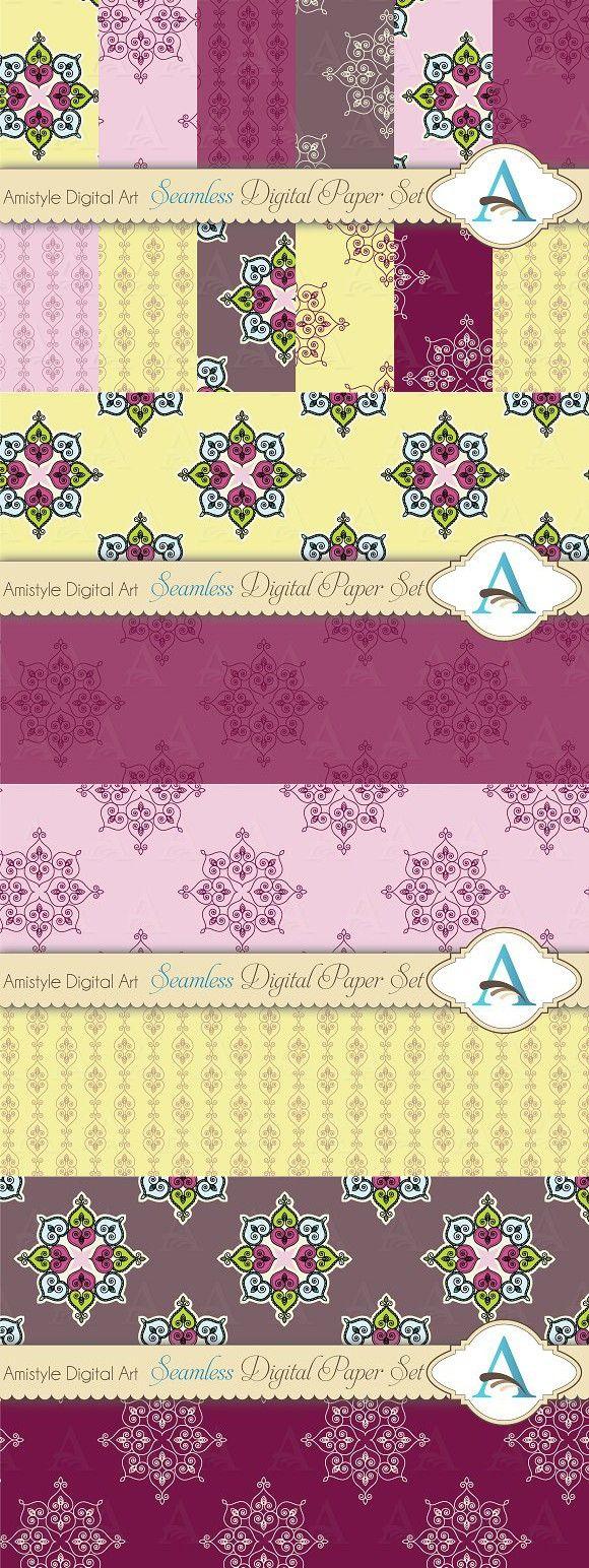 Pastel Indian Rangoli Paper Set. Patterns. $5.00