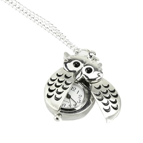 This is cute. My daughter would love it in my daughter's Christmas stocking stuffer Silver Owl Watch Necklace in Necklaces | LDSBookstore.com (affiliate)