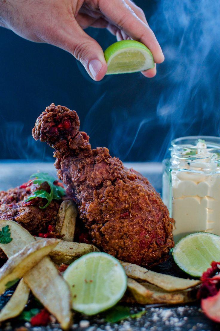 Flavour Fusion // Crispy Tandoori Fried Chicken with Cumin & Garlic Aioli