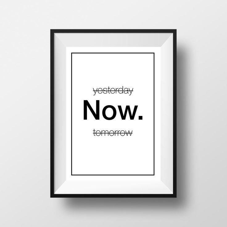 yesterday NOW tomorrow, Poster, Printable Home Decor, Wall Art, Inspirational Quote, Frasi, Citazioni, That'sAPoster di ThatsAPoster su Etsy
