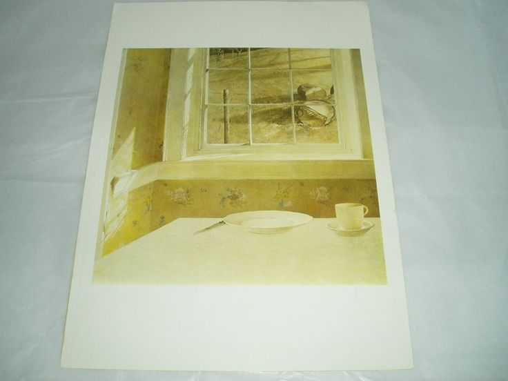 """ART PRINT POSTER OF """"GROUND HOG DAY"""" BY ANDREW WYETH 1959 #Realism"""