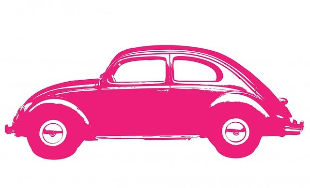 자동차, 포도주, 핑크, 폭스바겐, 비틀, 폭스바겐 비틀, 아트, 자동, 전송