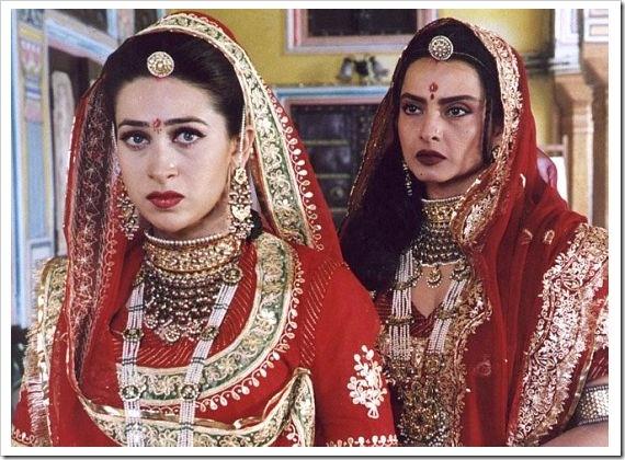 Karishma Kapoor & Rekha in Zubeida