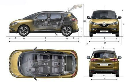 2017 renault scenic dimensions renault pinterest. Black Bedroom Furniture Sets. Home Design Ideas