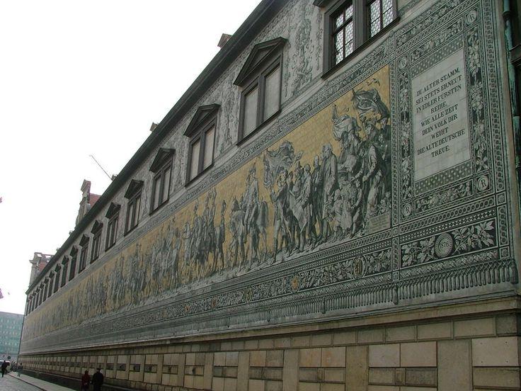 Fürstenzug - ein Wandbild in Dresden