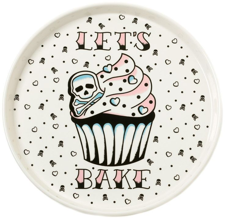 Sourpuss LET'S BAKE Serving PLATTER: Amazon.co.uk: Kitchen & Home