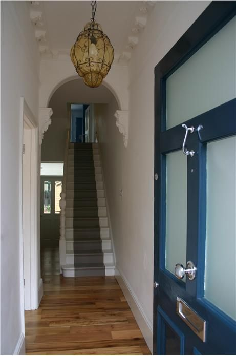 An inspirational image from Farrow and Ball: Hague Blue and Charleston Gray