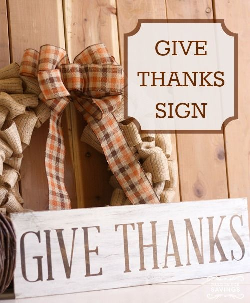 Fall Decorations - Easy Give Thanks Sign idea - DIY Fall Crafts!