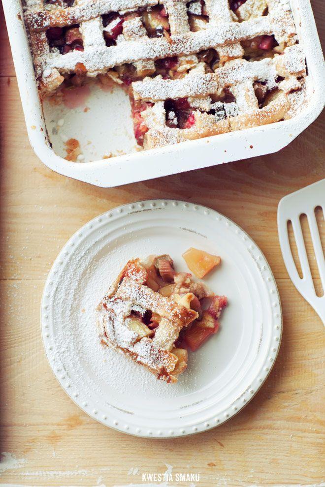 Ciasto z rabarbarem bez jajek