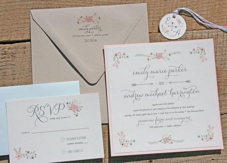 the 25+ best blush wedding invitation sets ideas on pinterest, Wedding invitations