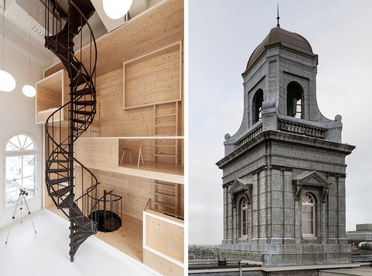 """i29 Architects создали пространство студии в башне, находящейся на крыше универмага Bijenkorf в Амстердаме. Все это сделано в рамках проекта """"Комната на крыше""""."""