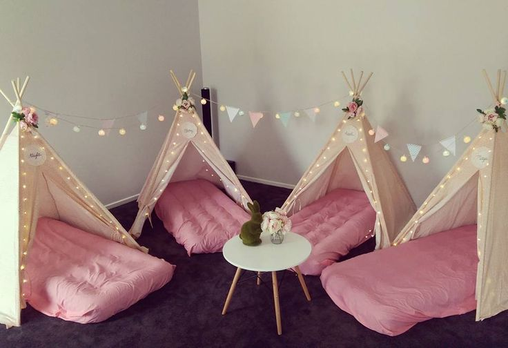 Adorable idea for a little girls slumber party - all from Kmart
