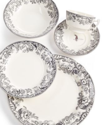 Spode Delamere Rural Collection $30.99 Vintage-inspired flowers frame this stunning plate collection from Spode. With intricate details and a sturdy earthenware design, these pieces add elegance to your every meal.