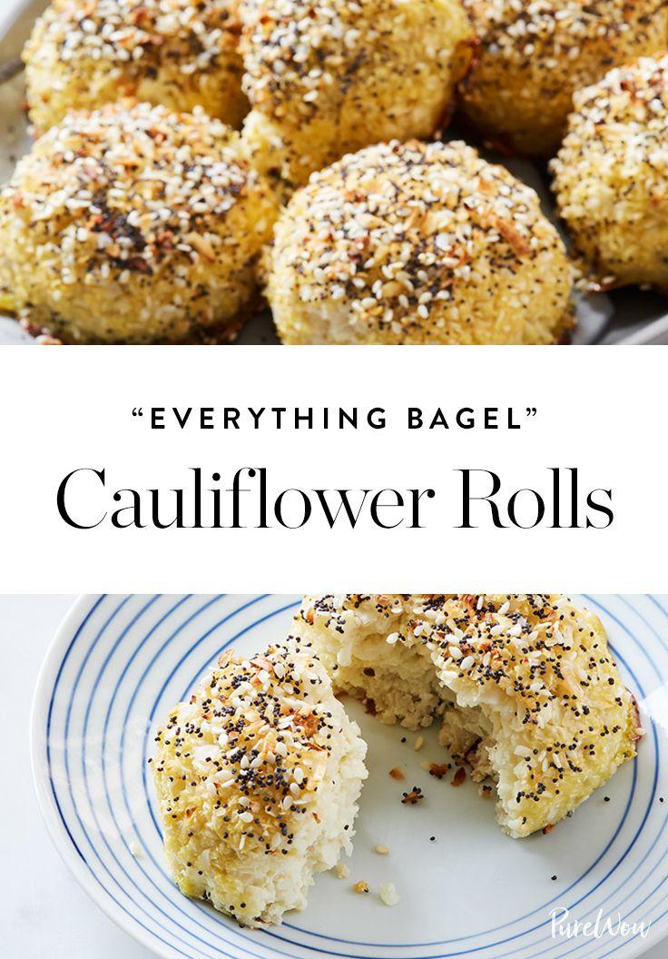 """Everything Bagel"" Cauliflower Rolls  via @PureWow"