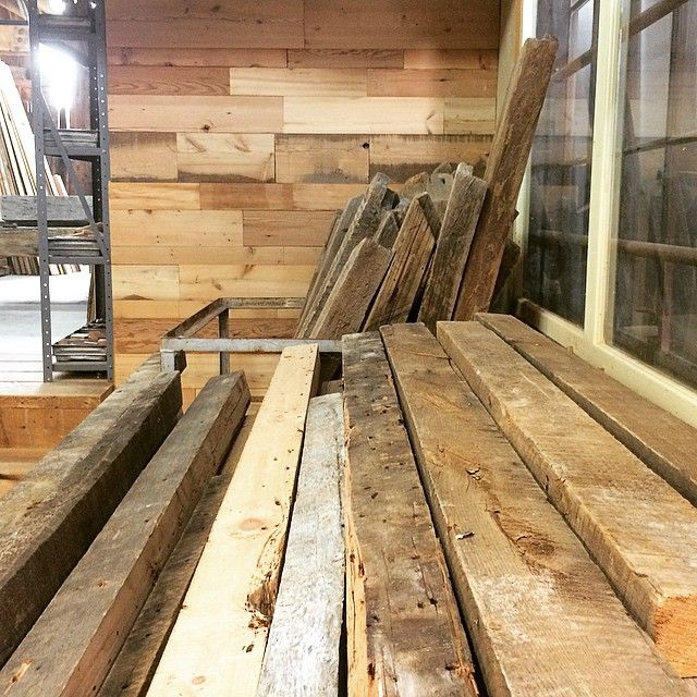 Former barns, future tables...or whatever! #reclaimed #woodworking #interiordesign #rusticdesign