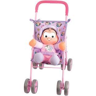 Carrinho de Boneca Multibrink Mônica Passeio com Boneca Mônica, lindo carrinho com a miniatura da personagem Mônica para a diversão de sua filha.    Acompanha uma Boneca Mônica e um Carrinho Passeio de boneca.