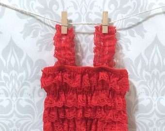 SALE-Red petti romper for baby girls petti by RascalsRhinestones