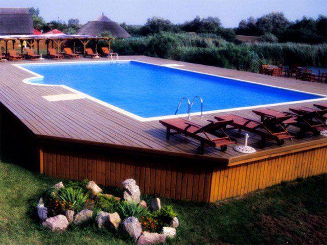 Les 25 meilleures id es de la cat gorie piscines hors sol for Construction piscine originale