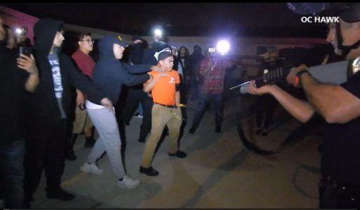 Violent protest near Disneyland over off-duty LAPD cop firing gun during tussle with teens in Anaheim #news #alternativenews