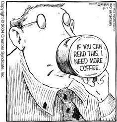 When you're in need of a coffee refill, others better stay out of your way! #Coffee #Humor #MrCoffee