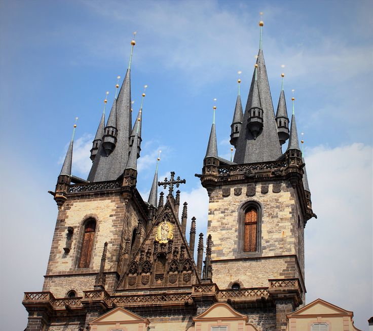 Iconic towers of the Church of our Lady before Tyn, Prague