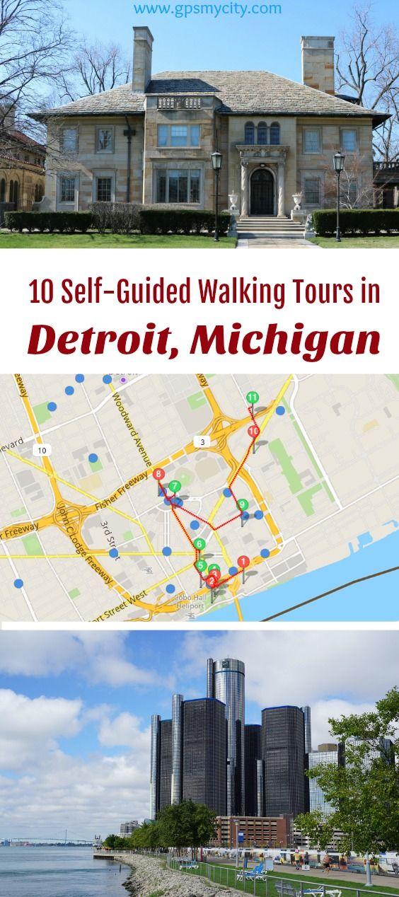 self guided walking tours in Detroit Michigan