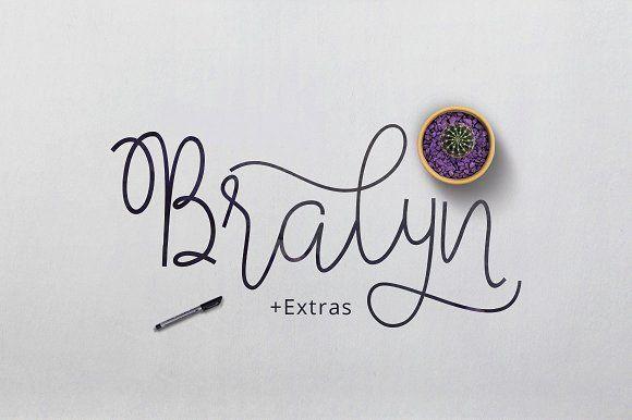Bralyn Script by vanroem on @creativemarket