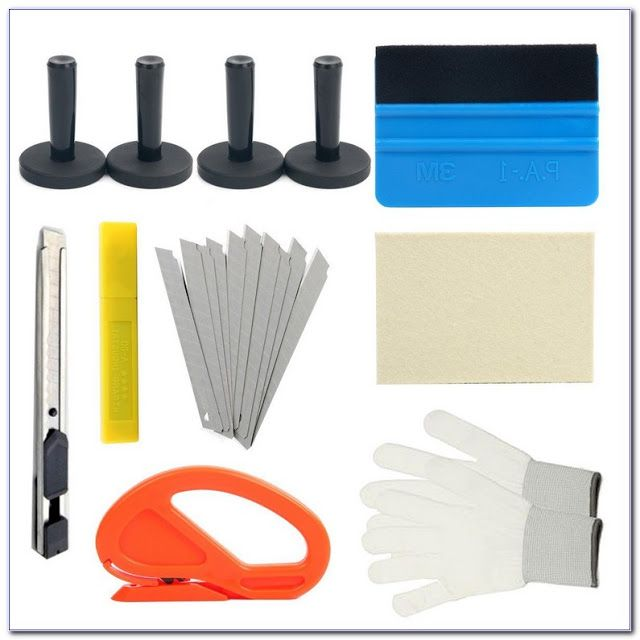 Car Window Tint Tools Kit Scraper Squeegee For Auto Film Tinting