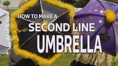 Catch that Big Easy spirit and express yourself! A second line umbrella is a must for festivals, graduations, weddings, tailgating, and of course, for second lines.