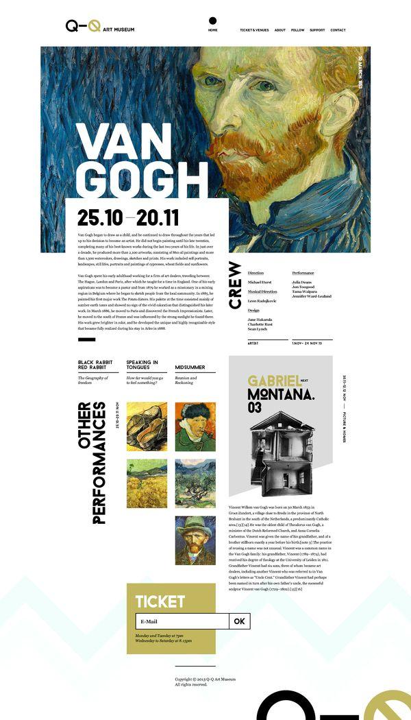 Web Design / Q-Q Art Museum