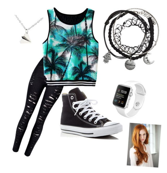 """""""Palm🌴"""" by ariba95 ❤ liked on Polyvore featuring WithChic and Converse"""