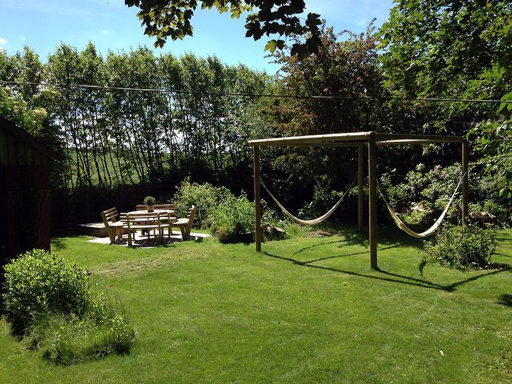 Den nye hyggekrog i haven.