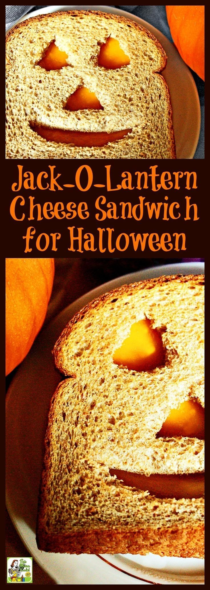 This Jack-O-Lantern Cheese Sandwich for Halloween recipe is a healthy cheese sandwich for Halloween kids parties. So easy to make that the kids can do it themselves! Click to get this fun and healthy Halloween recipe.