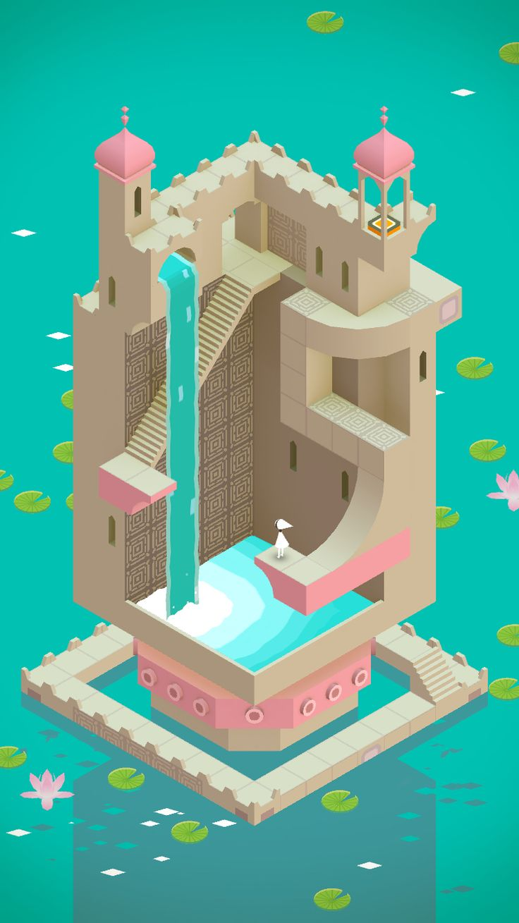 Color scheme in Monument Valley Game