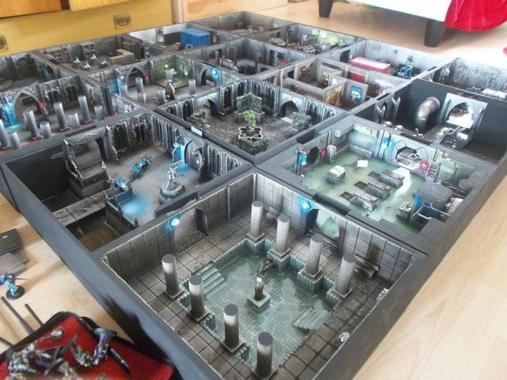 Follow this absolutely beautiful project build of the the Governor's Palace gaming board for use with Warhammer 40k and Zone Mortalis