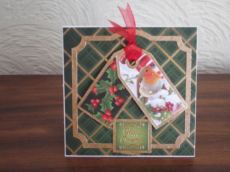 Christmas robin from Hunkydory traditional Christmas kit.