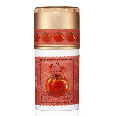 Skinfood Tomato Whitening Cream (Whitening Skin Care) 40g by Skinfood. $17.99. 40g. Skinfood Tomato Whitening Cream (Whitening Skin Care). This skin-brightening cream containing arbutin and tomato extract rich in lycopene, vitamins, and minerals makes dull skin clear and blemish-free and improves skin tone, with its non-sticky, lightweight, soft texture.. Directions : After serum, apply gently onto face and cover face with hands, for deep absorption.. Skinfood Toma...