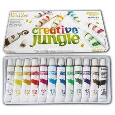 12 színű tempera festék 12 ml alumínium tubusban - Creative Jungle - Tempera készlet - 799Ft - Tempera festék - Tempera készlet