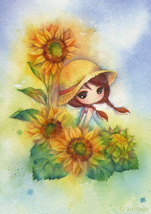 https://flic.kr/p/fS6REH | hazuki | Approx. 15.5cm x 22cm / watercolor on paper / 2013  *sold*
