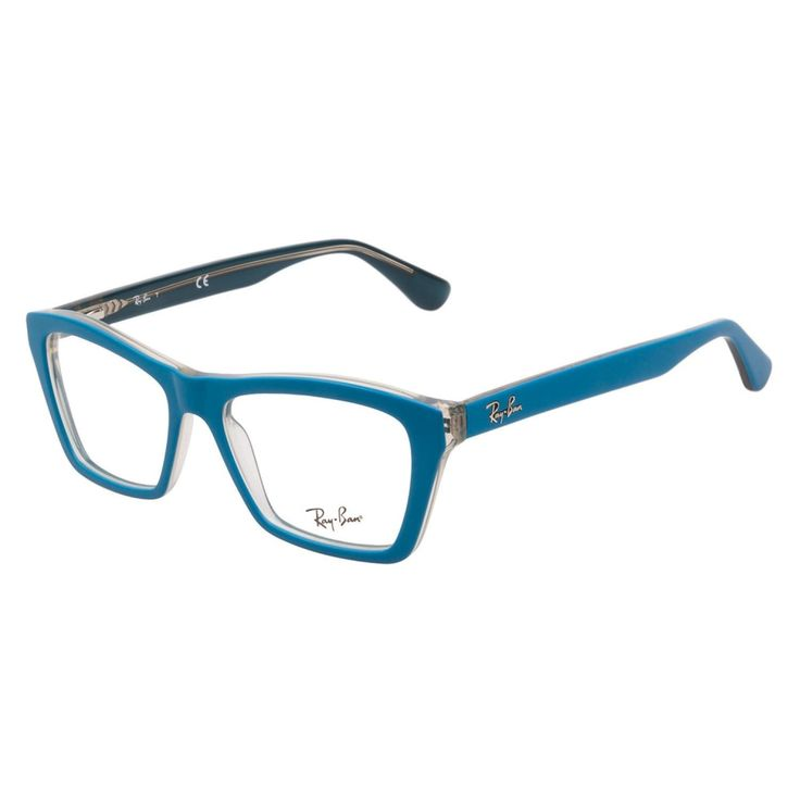 Ray-Ban RB5316 5391 Matte Blue eyeglasses are casually edgy. This angular style has